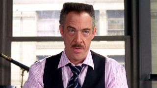 JK Simmons as J. Jonah. Jameson in Spider-Man.